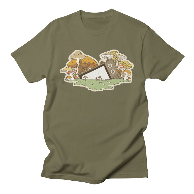 Mushroom Forest Forecast Men's T-Shirt by Catparrts' Shop