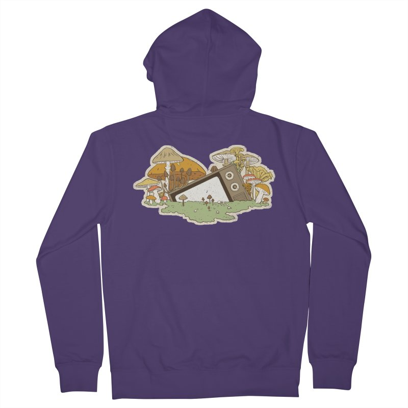 Mushroom Forest Forecast Women's Zip-Up Hoody by Catparrts' Shop