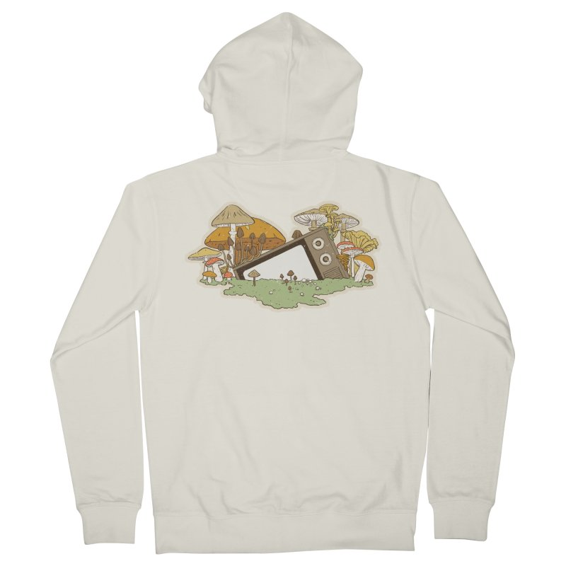 Mushroom Forest Forecast Men's Zip-Up Hoody by Catparrts' Shop
