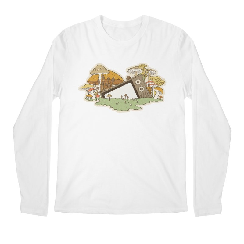 Mushroom Forest Forecast Men's Longsleeve T-Shirt by Catparrts' Shop