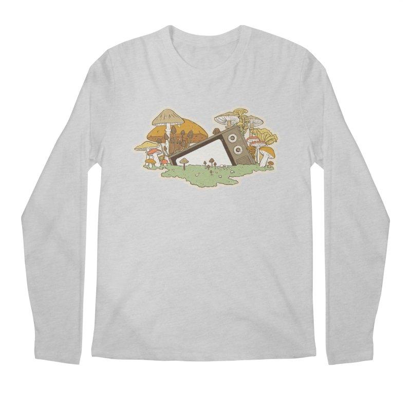 Mushroom Forest Forecast Men's Longsleeve T-Shirt by Catparrts' Shop