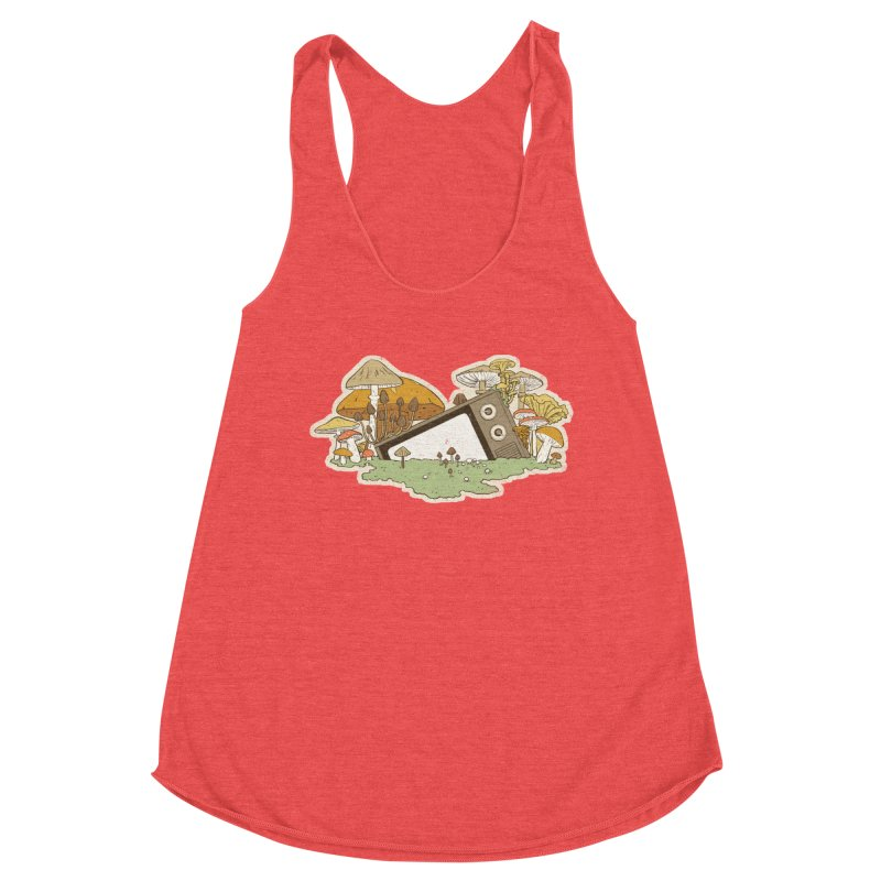 Mushroom Forest Forecast Women's Tank by Catparrts' Shop