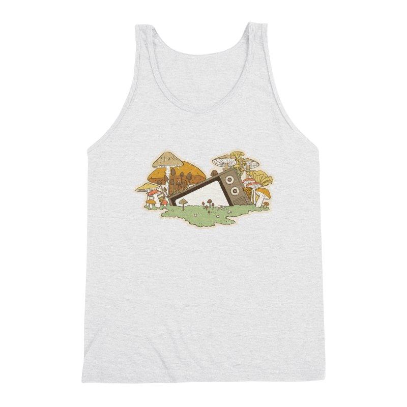 Mushroom Forest Forecast Men's Tank by Catparrts' Shop