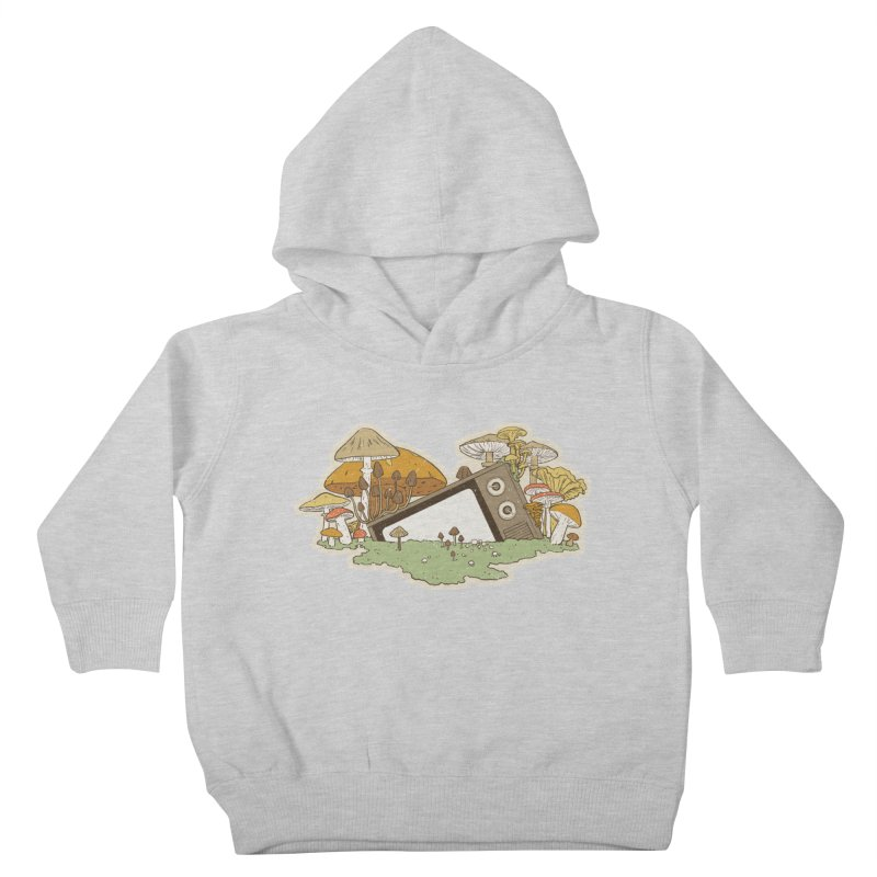 Mushroom Forest Forecast Kids Toddler Pullover Hoody by Catparrts' Shop