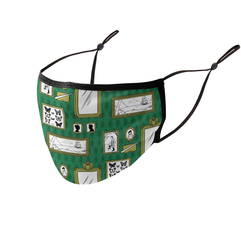 Old Fashioned Frame-Up Accessories Face Mask by Catparrts' Shop