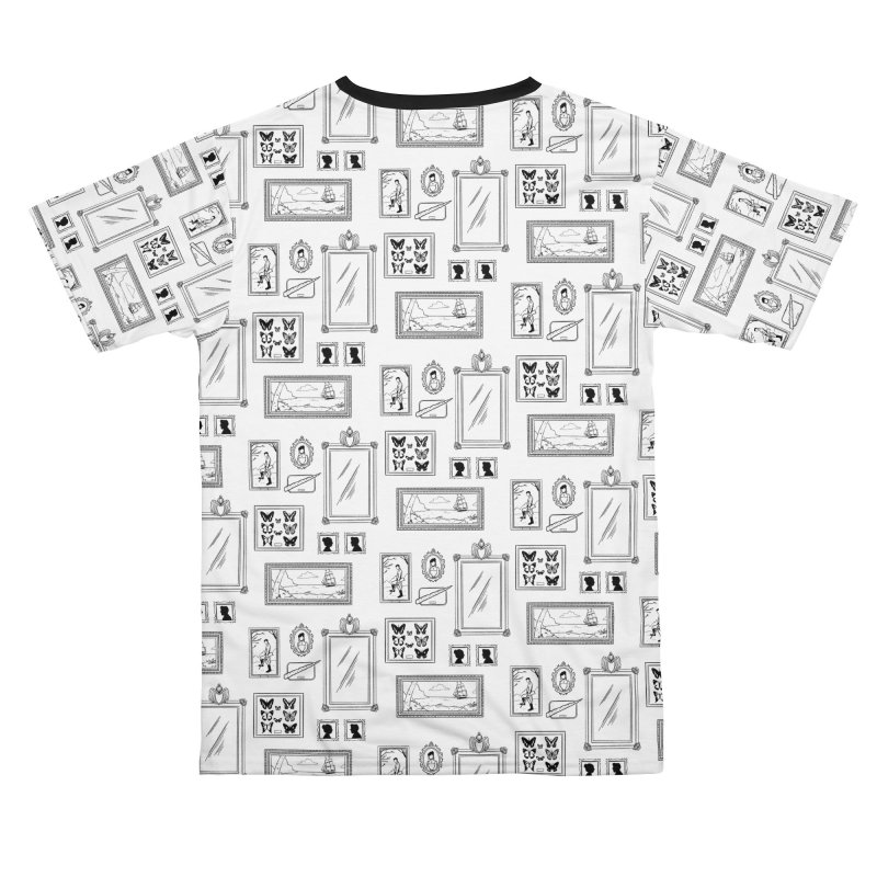 Old Fashioned Frame-Up (Black and White) Men's Cut & Sew by Catparrts' Shop