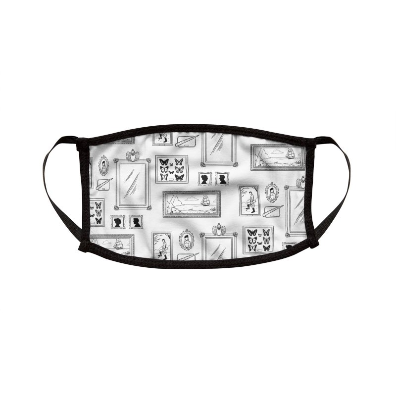 Old Fashioned Frame-Up (Black and White) Accessories Face Mask by Catparrts' Shop