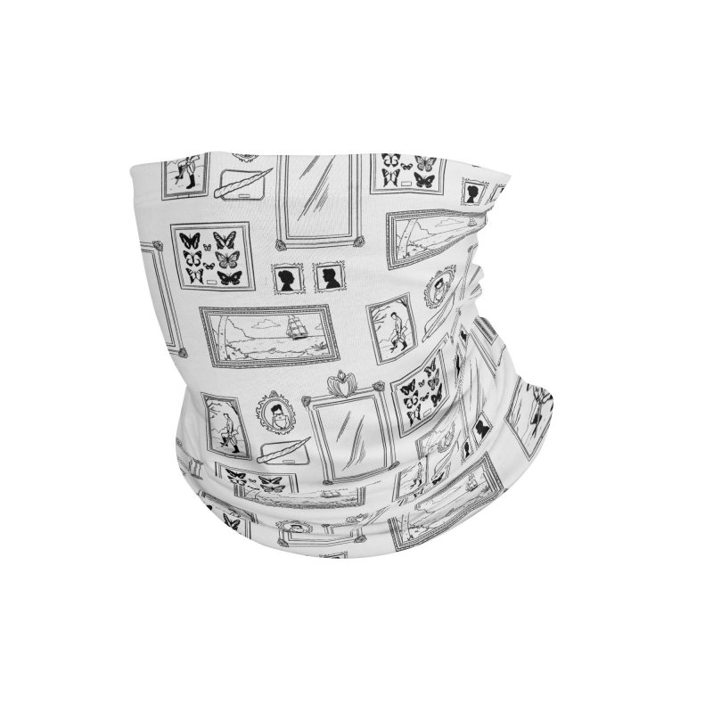 Old Fashioned Frame-Up (Black and White) Accessories Neck Gaiter by Catparrts' Shop