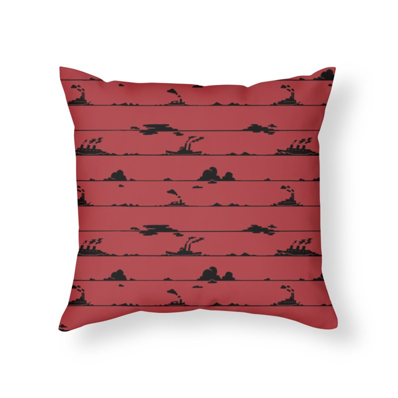 Parallel Horizons-Steam Home Throw Pillow by Catparrts' Shop