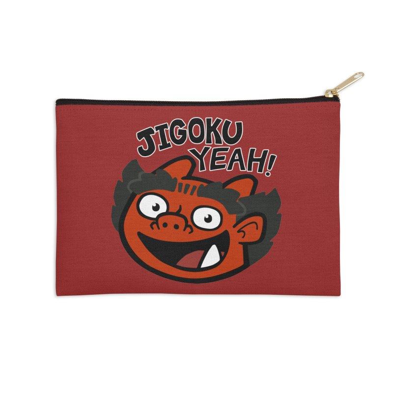 Jigoku Yeah Shirt Accessories Zip Pouch by Cattype's Artist Shop