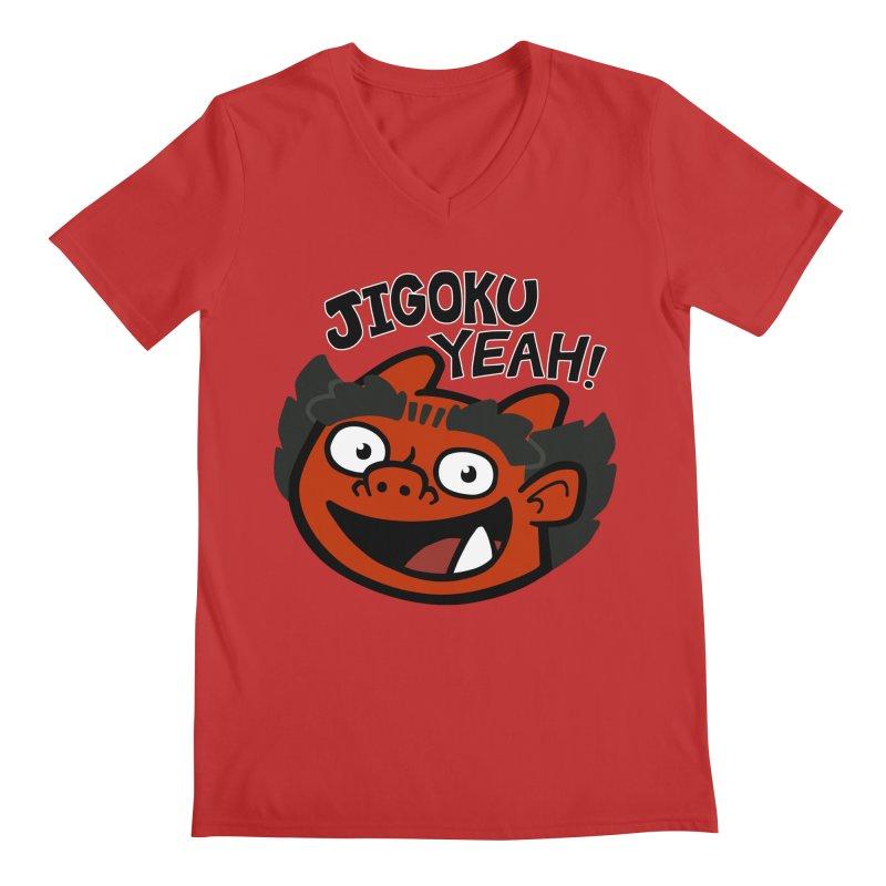 Jigoku Yeah Shirt Men's V-Neck by Cattype's Artist Shop
