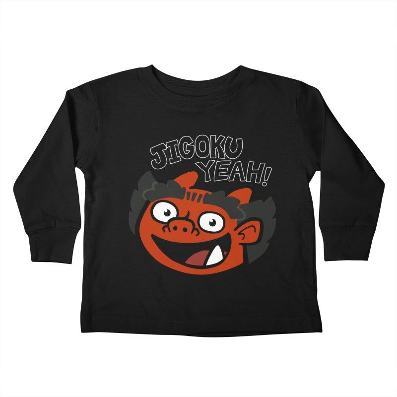 Jigoku Yeah Shirt Kids Toddler Longsleeve T-Shirt by Cattype's Artist Shop