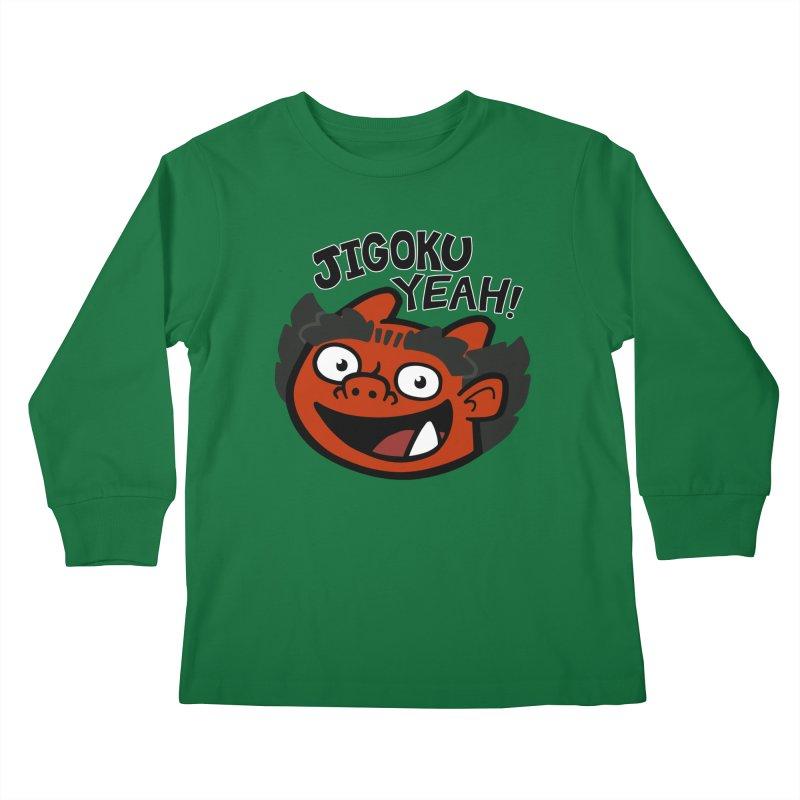Jigoku Yeah Shirt Kids Longsleeve T-Shirt by Cattype's Artist Shop