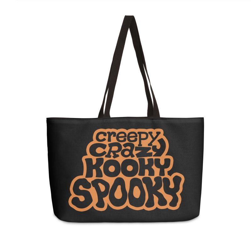 Creepy Crazy Kooky Spooky Accessories Bag by Cattype's Artist Shop