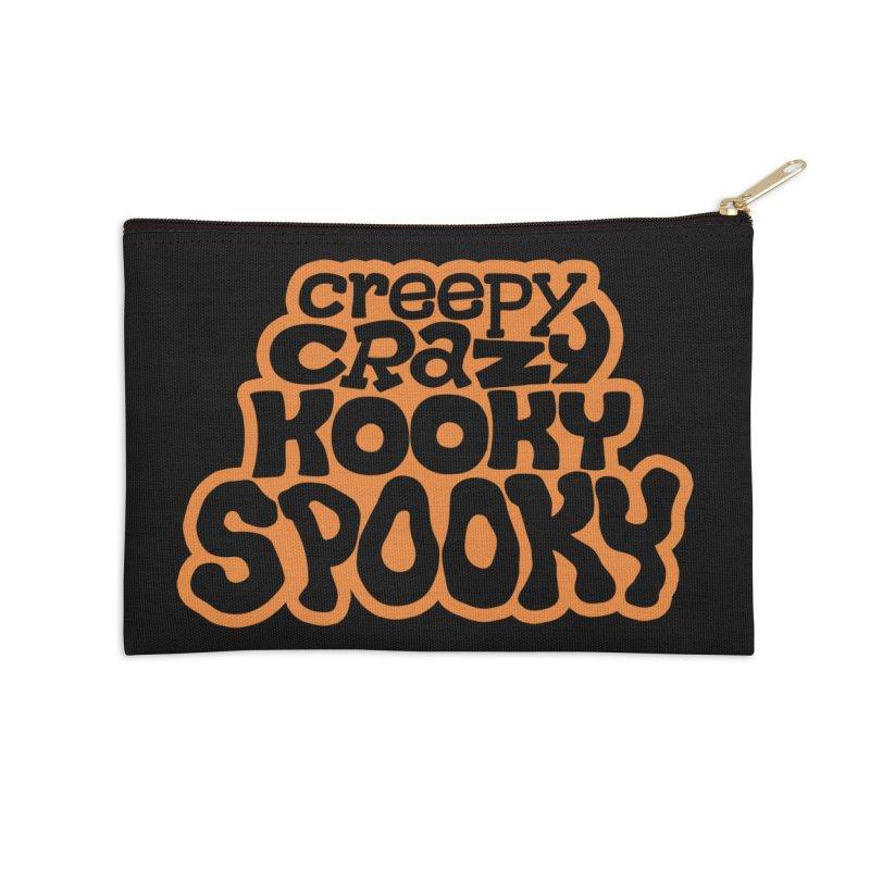 Creepy Crazy Kooky Spooky Accessories Zip Pouch by Cattype's Artist Shop