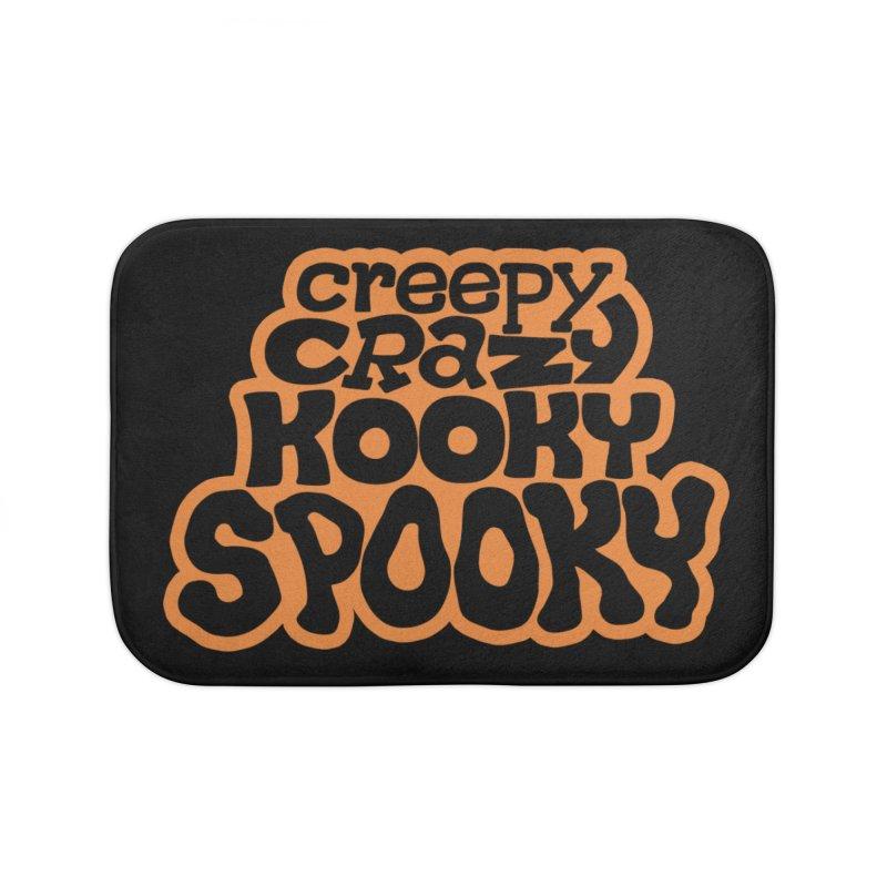 Creepy Crazy Kooky Spooky Home Bath Mat by Cattype's Artist Shop