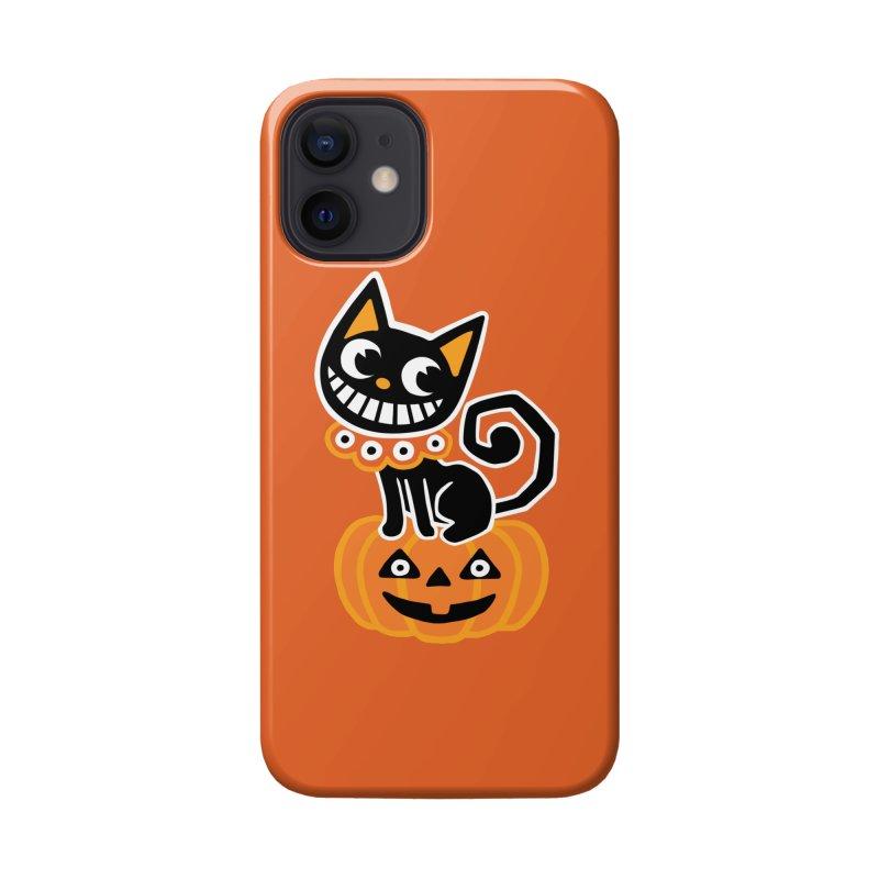 Spooky Pumpkin Black Cat Accessories Phone Case by Cattype's Artist Shop