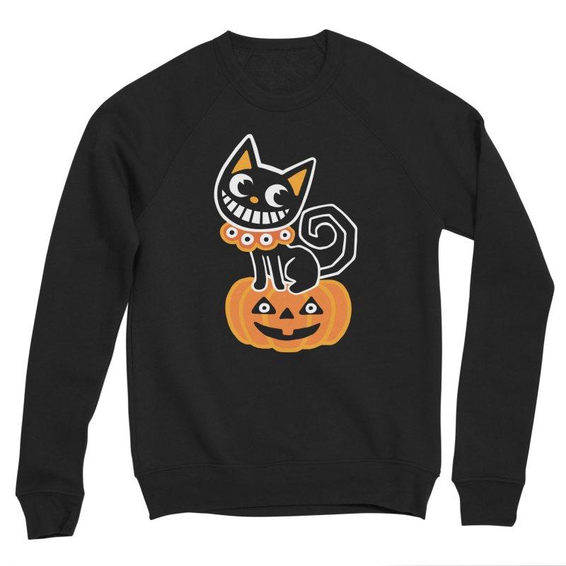 Spooky Pumpkin Black Cat Women's Sweatshirt by Cattype's Artist Shop