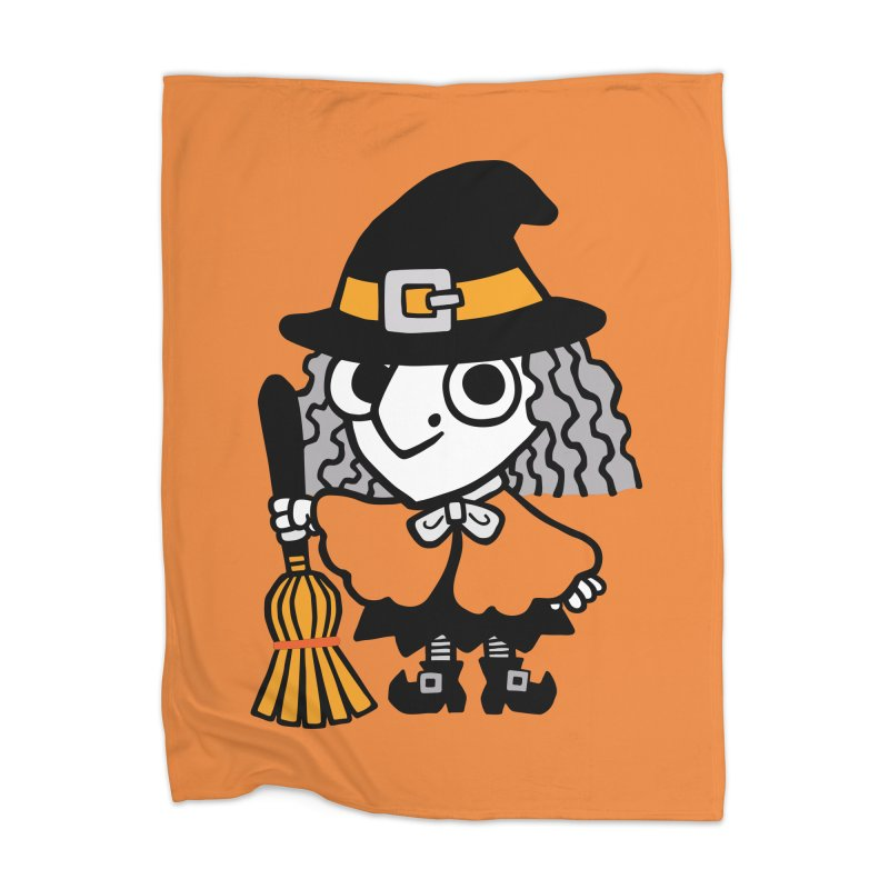 Kooky Spooky Witch Home Blanket by Cattype's Artist Shop