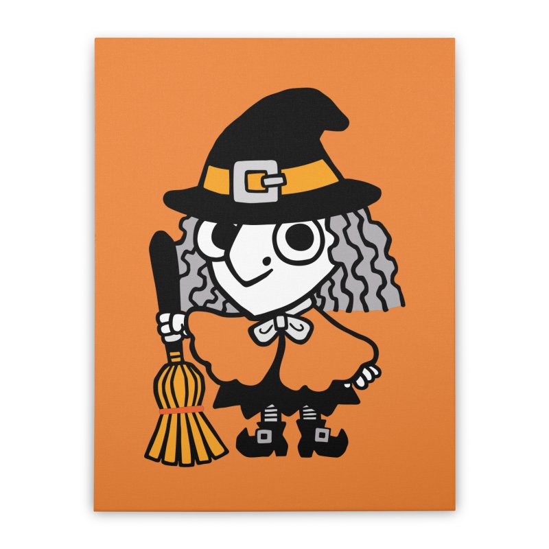 Kooky Spooky Witch Home Stretched Canvas by Cattype's Artist Shop