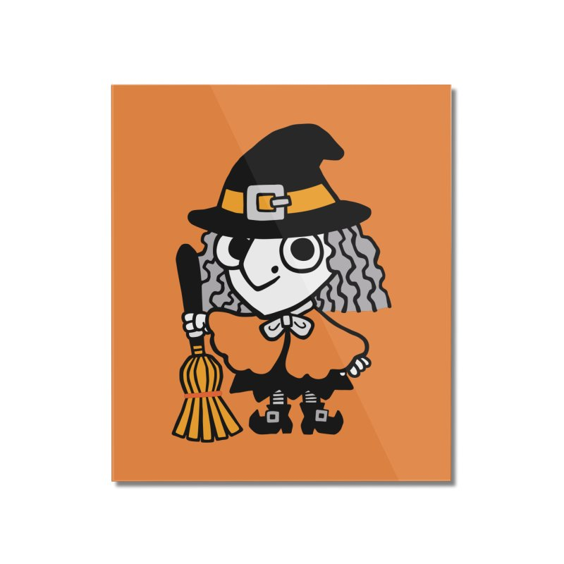 Kooky Spooky Witch Home Mounted Acrylic Print by Cattype's Artist Shop