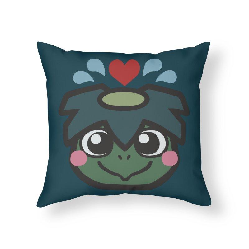 Kappa Love Home Throw Pillow by Cattype's Artist Shop