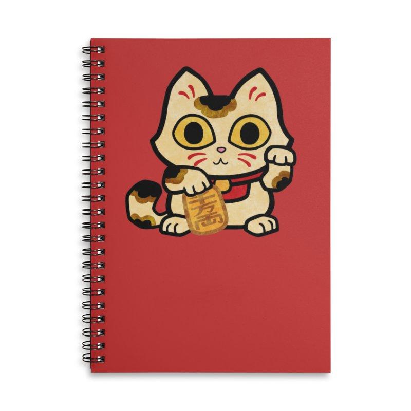 Maneki Neko Accessories Notebook by Cattype's Artist Shop