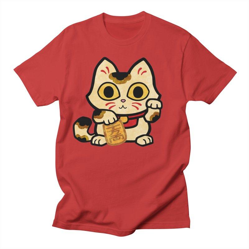 Maneki Neko Men's T-Shirt by Cattype's Artist Shop