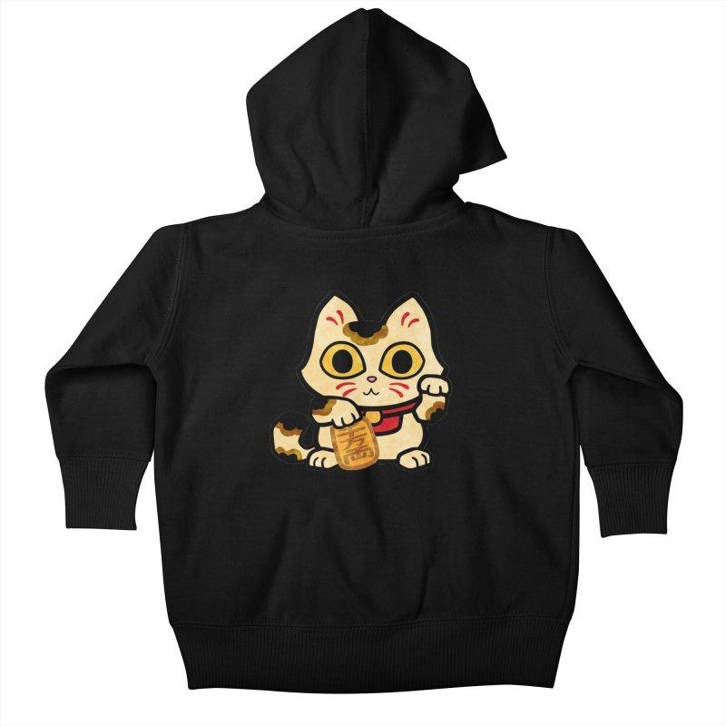 Maneki Neko Kids Baby Zip-Up Hoody by Cattype's Artist Shop