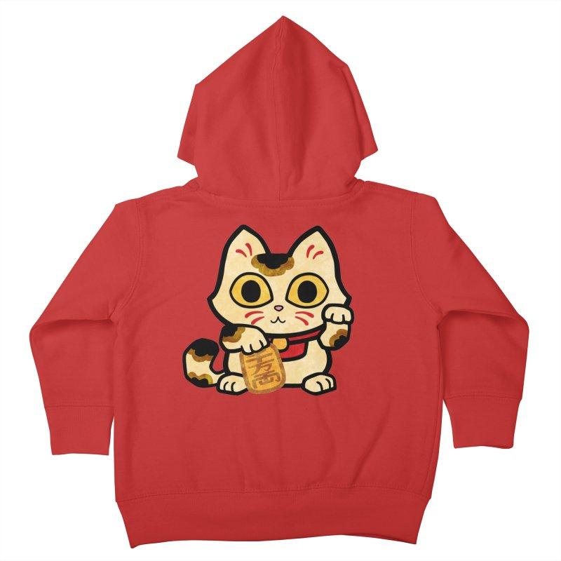 Maneki Neko Kids Toddler Zip-Up Hoody by Cattype's Artist Shop