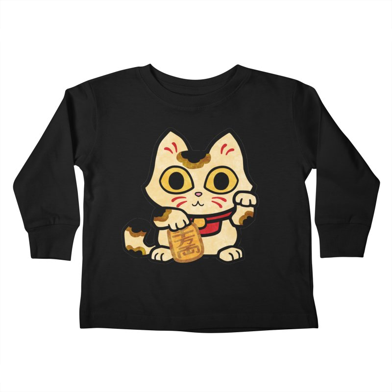 Maneki Neko Kids Toddler Longsleeve T-Shirt by Cattype's Artist Shop