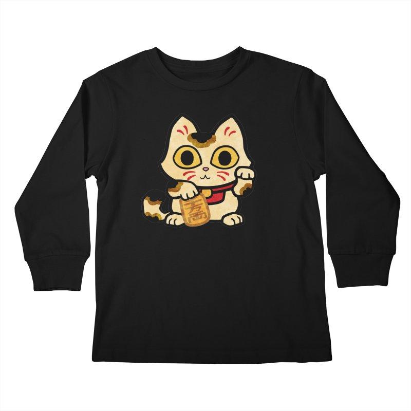 Maneki Neko Kids Longsleeve T-Shirt by Cattype's Artist Shop