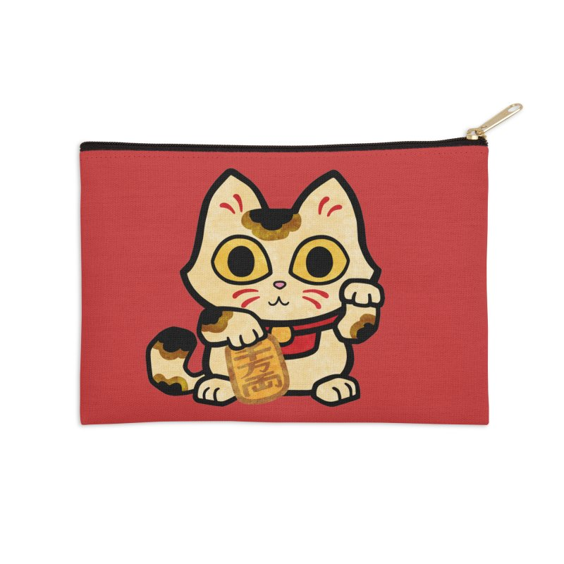 Maneki Neko Accessories Zip Pouch by Cattype's Artist Shop