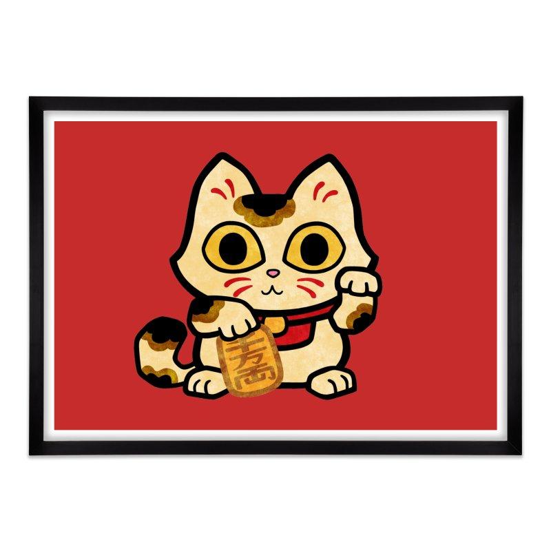 Maneki Neko Home Framed Fine Art Print by Cattype's Artist Shop