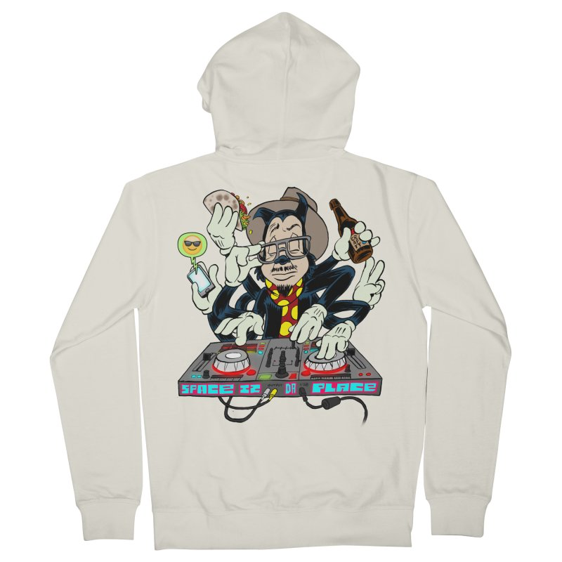 DJ Sancho Swift Men's Zip-Up Hoody by Magic Inkwell