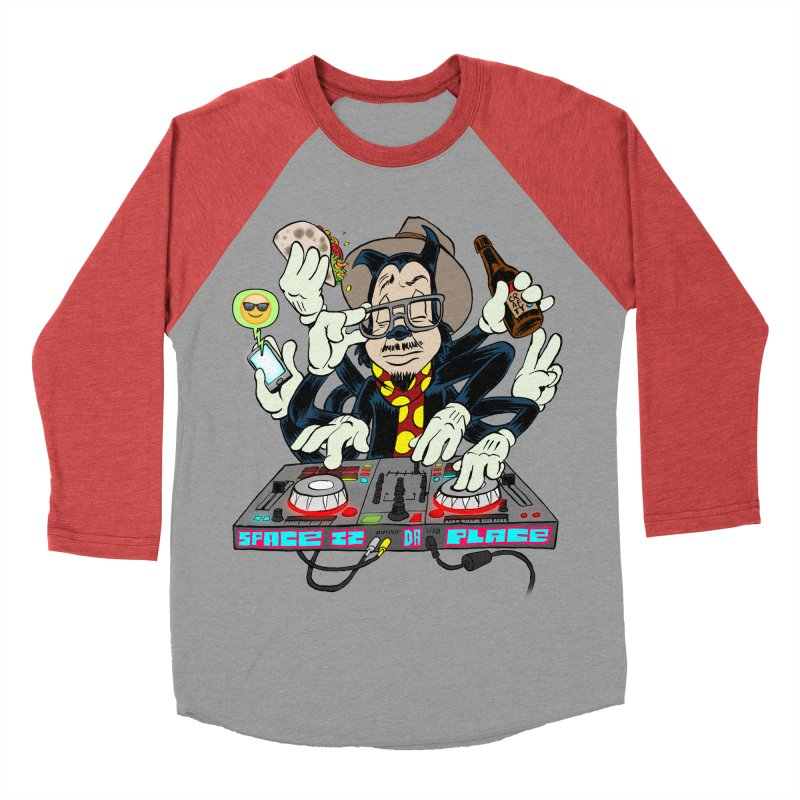 DJ Sancho Swift Men's Baseball Triblend Longsleeve T-Shirt by Magic Inkwell