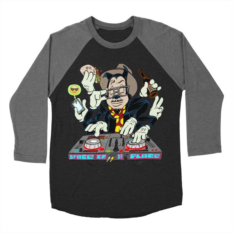 DJ Sancho Swift Men's Baseball Triblend Longsleeve T-Shirt by Magic Inkwell