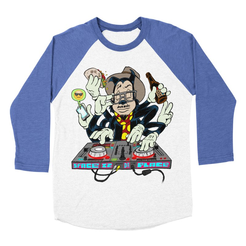 DJ Sancho Swift Men's Baseball Triblend T-Shirt by Magic Inkwell