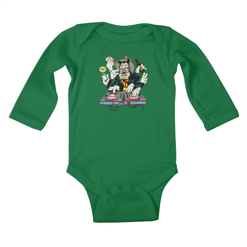 DJ Sancho Swift Kids Baby Longsleeve Bodysuit by Magic Inkwell