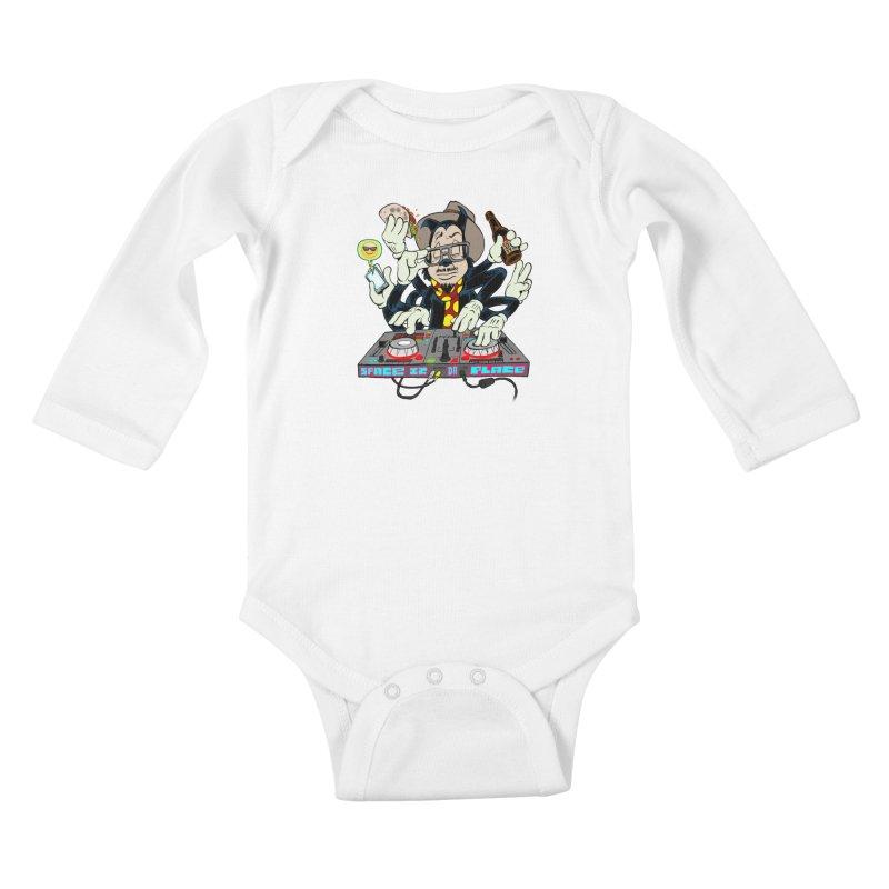 DJ Sancho Swift Kids Baby Longsleeve Bodysuit by Magic Inkwell