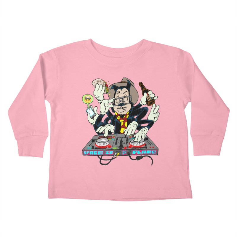 DJ Sancho Swift Kids Toddler Longsleeve T-Shirt by Magic Inkwell