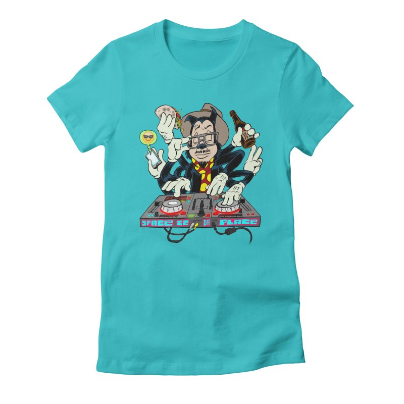 DJ Sancho Swift Women's Fitted T-Shirt by Magic Inkwell