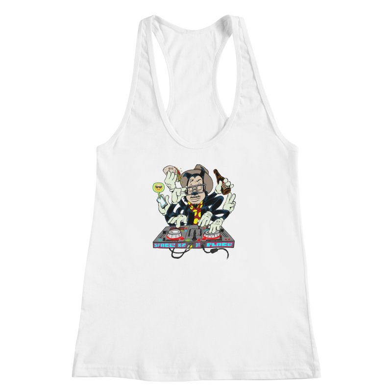 DJ Sancho Swift Women's Racerback Tank by Magic Inkwell