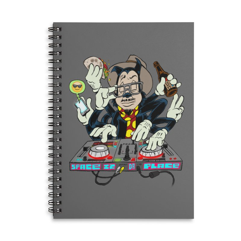 DJ Sancho Swift Accessories Lined Spiral Notebook by Magic Inkwell