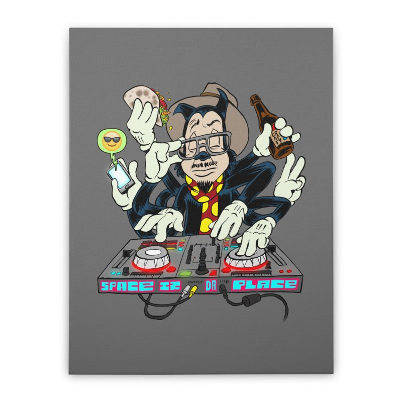 DJ Sancho Swift Home Stretched Canvas by Magic Inkwell