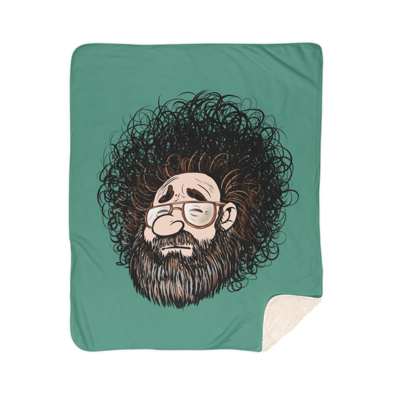 Self Portrait 2017 Home Sherpa Blanket Blanket by Magic Inkwell
