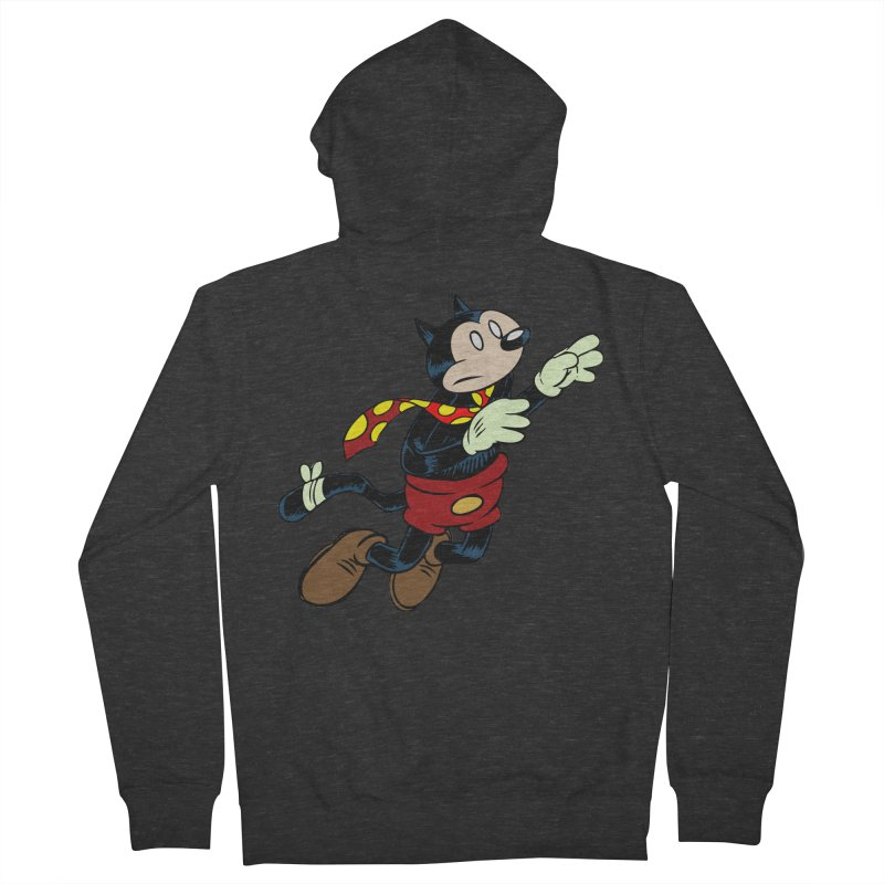 Dingbat the Cat Men's French Terry Zip-Up Hoody by Magic Inkwell