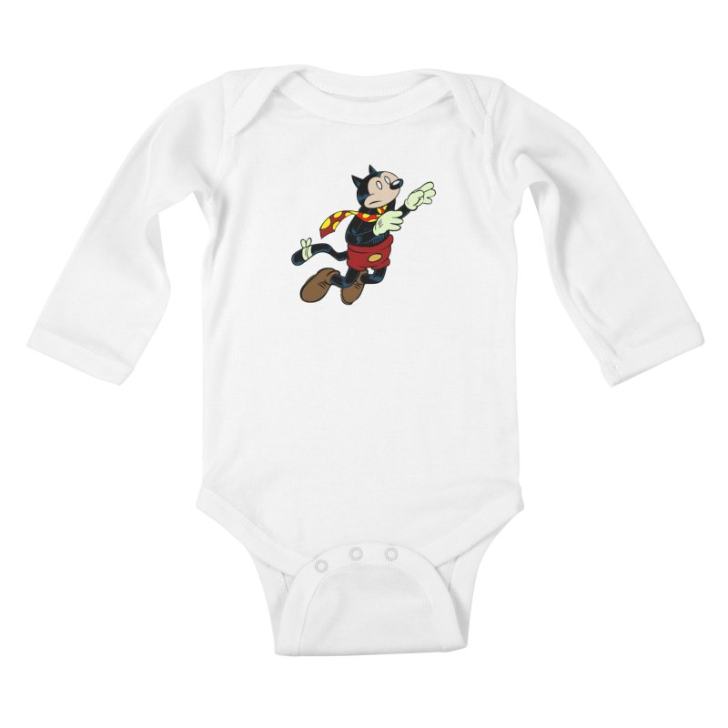Dingbat the Cat Kids Baby Longsleeve Bodysuit by Magic Inkwell
