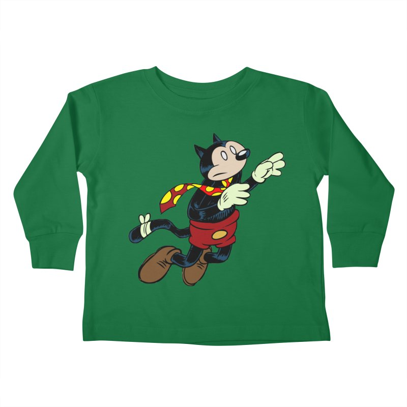 Dingbat the Cat Kids Toddler Longsleeve T-Shirt by Magic Inkwell