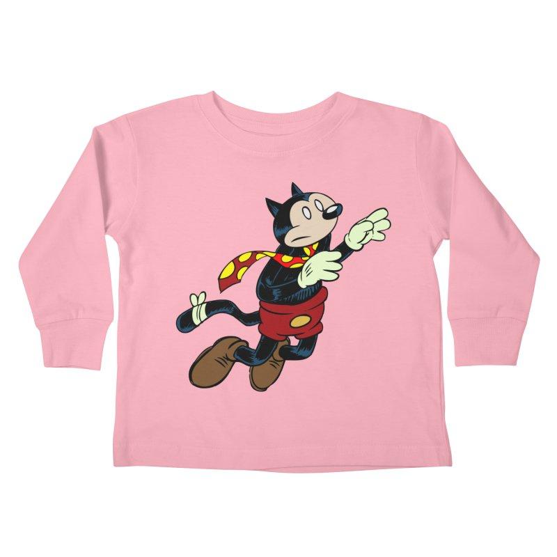 Dingbat the Cat Kids Toddler Longsleeve T-Shirt by Magic Inkwell